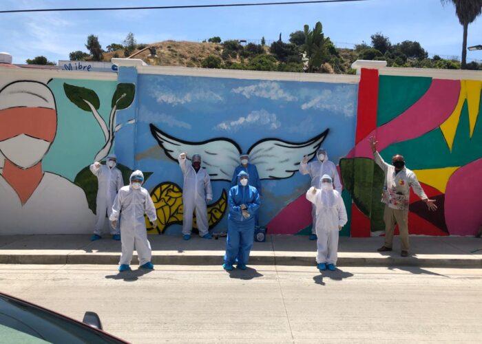 «Mural de Agradecimiento» a médicos de Tijuana registra avances importantes