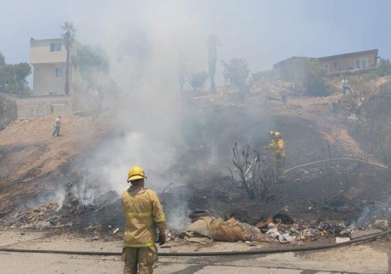 113 incendios en las últimas 24 horas en Tijuana