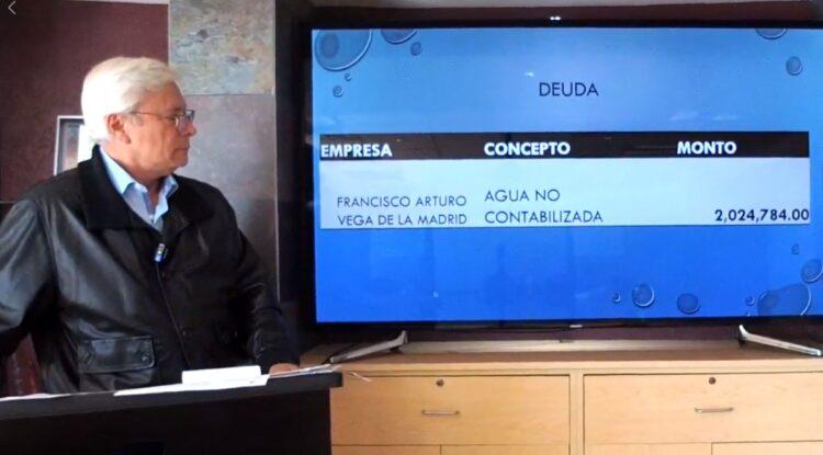 Acusan a Vega de Lamadrid de deber 2 MDP a la CESPT
