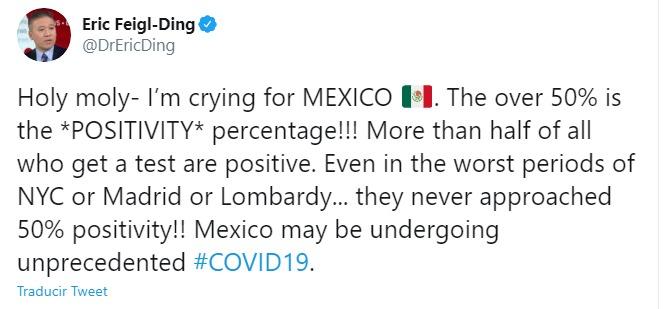 Alerta Harvard sobre déficit de pruebas de Covid en México