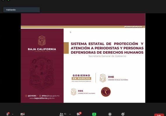 BC cuenta con sistema de protección a periodistas