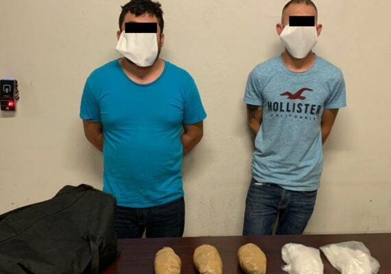 Capturan a sujetos con metanfetamina en Otay