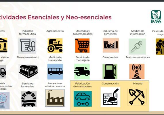 ¿Cuáles son las actividades esenciales?