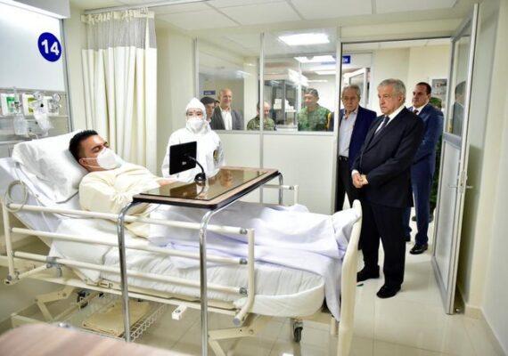 Foto de AMLO con «enfermo» de Covid es un simulacro: ISSSTE