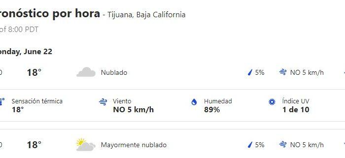 Habrá días nublados en Tijuana