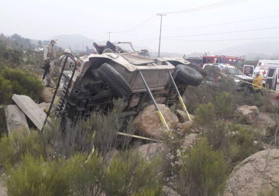 Mueren cinco soldados en accidente en bulevar 2000