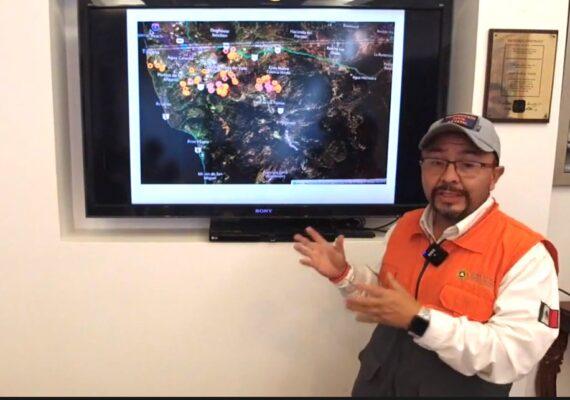 Riesgo de incendio seguirá este miércoles: Protección Civil