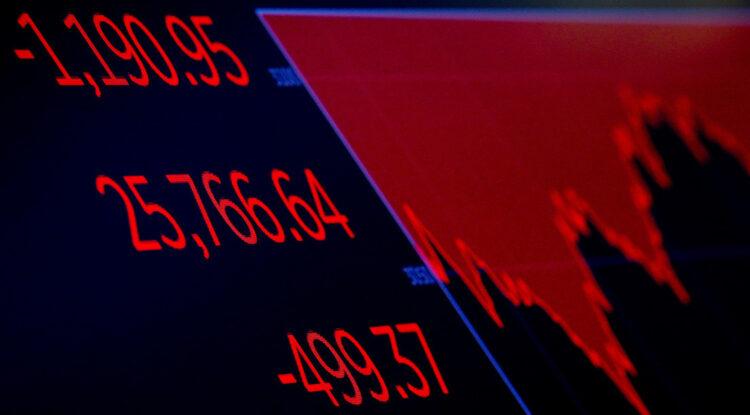 Wall Street vive su peor jornada desde marzo con una caída del Dow Jones del 6,9%