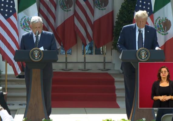 «Le agradezco ser respetuoso con los mexicanos»: AMLO a Trump