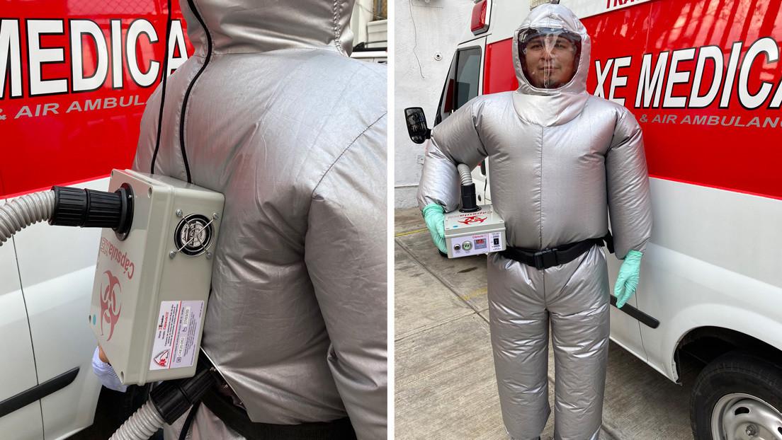 Crean un traje inflable que protege del covid-19 y mantiene ...