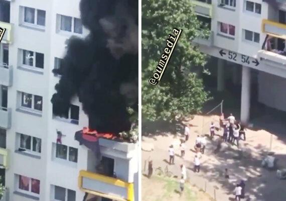 Dos niños atrapadados en un piso en llamas salvan su vida tras saltar desde 12 metros de altura