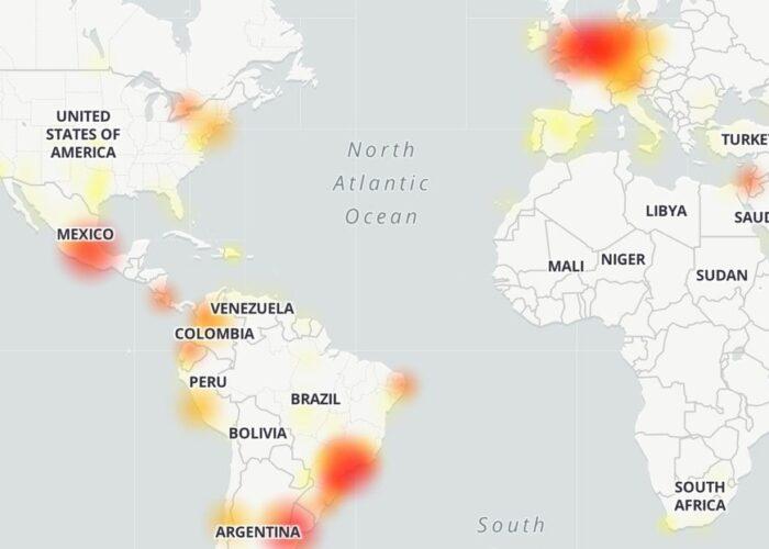 Se registra la caída de WhatsApp en varios países
