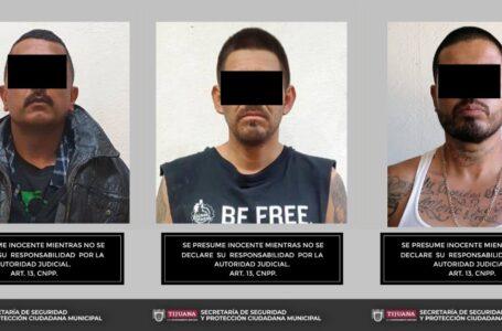 Capturan a tres portadores de arma en Tijuana