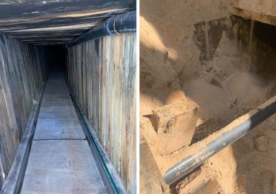 Descubren un sofisticado túnel transfronterizo para contrabando con sistema de ventilación y cableado eléctrico