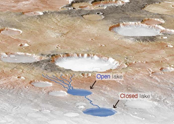 Hace miles de millones de años las lluvias desbordaban los lagos de Marte