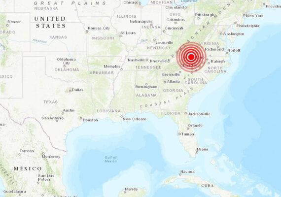 EE.UU.: Se produce un terremoto de magnitud 5,1 en Carolina del Norte (VIDEO)