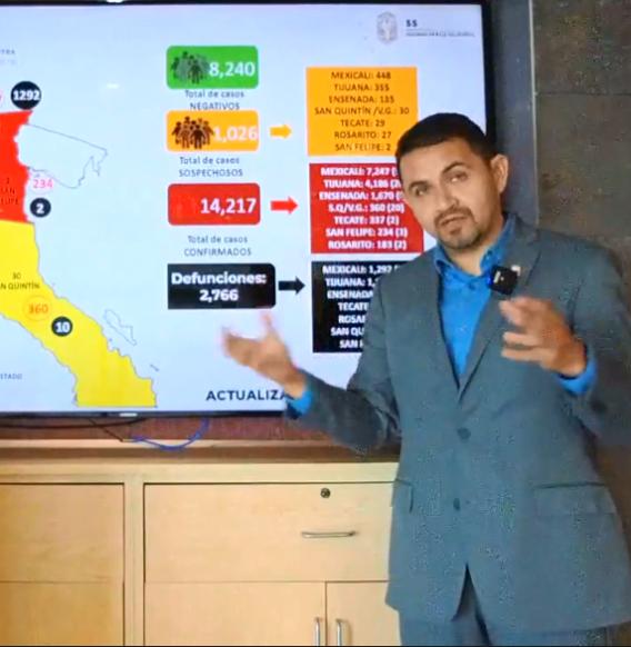 Cae Baja California dos lugares en casos de Covid