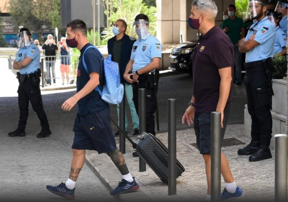 Protestan contra Messi por aplastante derrota del Barcelona
