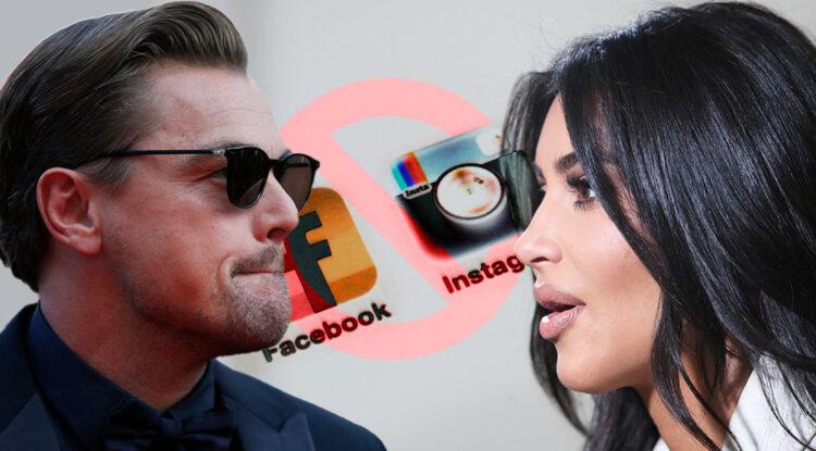 """Leonardo DiCaprio, Kim Kardashian y otras estrellas cierran sus cuentas de Instagram en protesta por la """"proliferación del odio"""" en Facebook"""