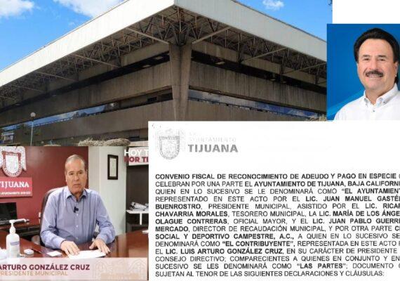 González Cruz negoció con Gastélum para no pagar predial en efectivo