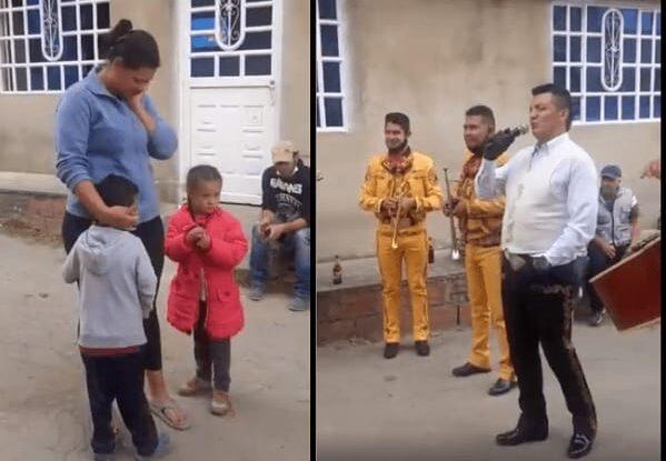 Momento emotivo: Niño ofrece 5 pesos y sus canicas para llevar serenata a su mamá