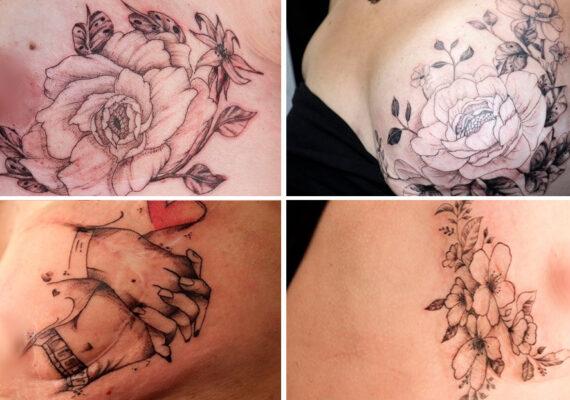 """""""Cubrir cicatrices y aumentar la autoestima"""": Una madre y su hijo viajan en un estudio móvil para tatuar a mujeres que tuvieron cáncer de mama"""