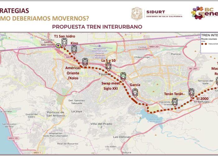 Nuevo tren de pasajeros de Tijuana estará listo en un año