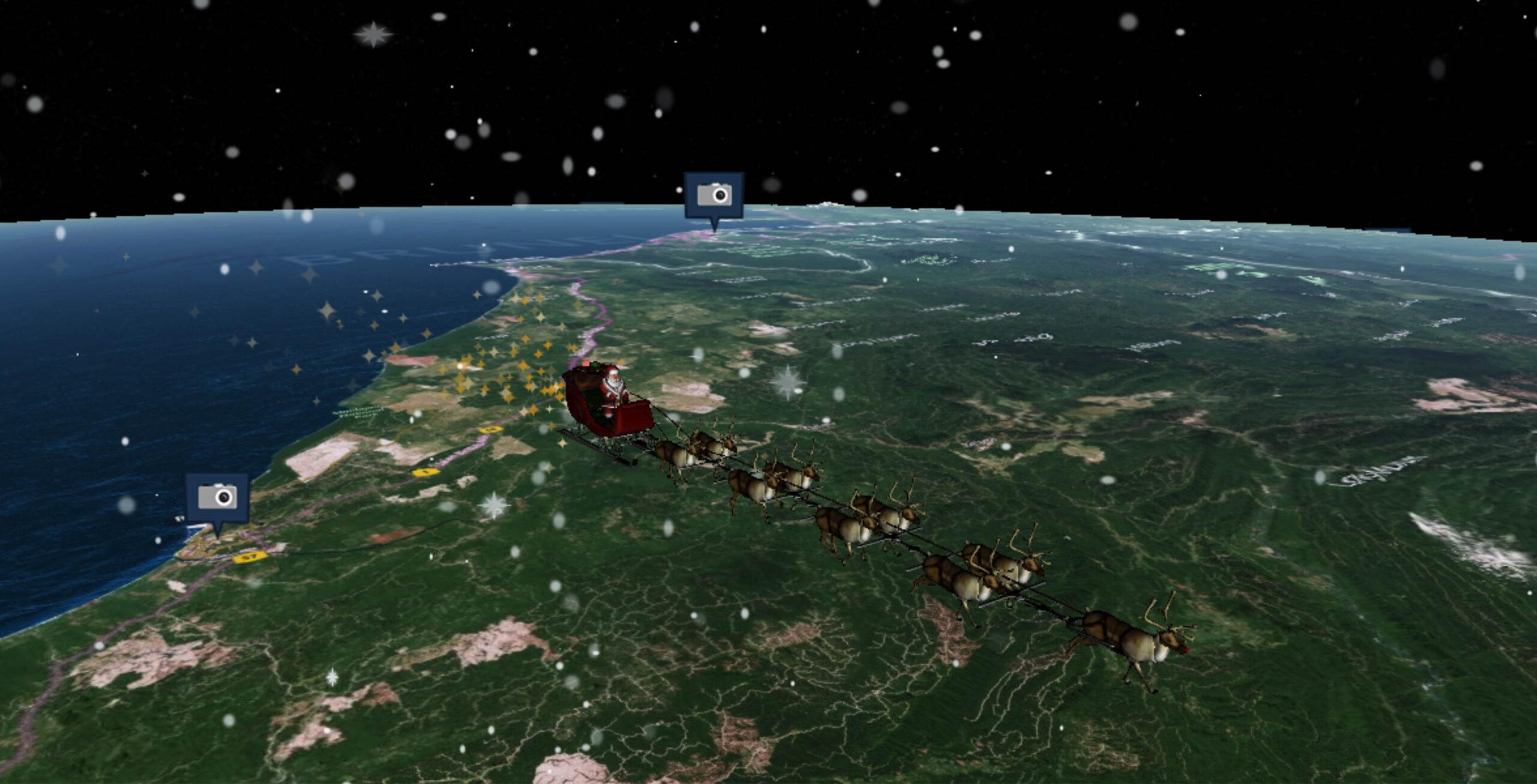 Puedes rastrear a Santa Claus virtualmente