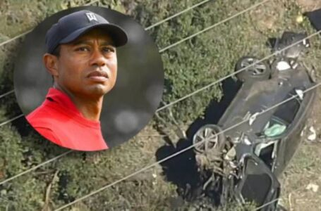 Sufre Tiger Woods accidente automovilístico