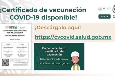 México habilita página para generar el certificado de vacunación