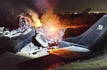 Dos personas murieron calcinadas tras desplome de avioneta en Mexicali